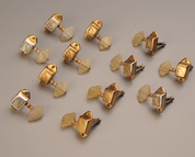 Vintage Guild tuning machines prior to restoration.